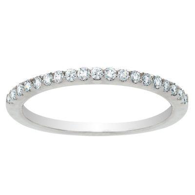 Emilia Diamond Wedding Band in 14K White Gold; .22 ctw