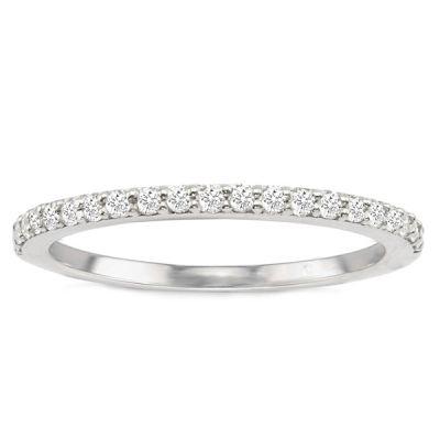 Carolina Diamond Wedding Band in 14K White Gold; .35 ct