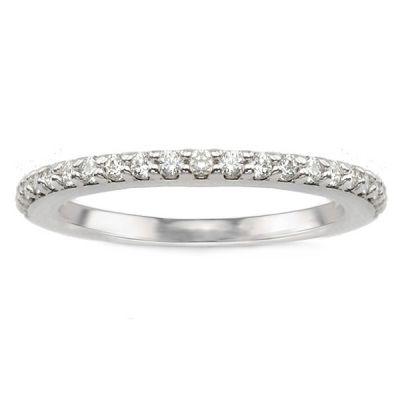 Luisa Diamond Wedding Band in 14K White Gold; .25 ct