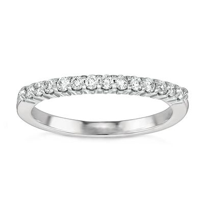 Josephine Diamond Wedding Band in 14K White Gold; .40 ct