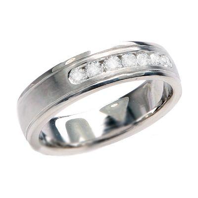 Maxwell Diamond Wedding Band; Diamond .50 ctw
