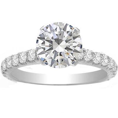 Emilia Petite Diamond Engagement Ring in 14K White Gold; 0.22 ctw