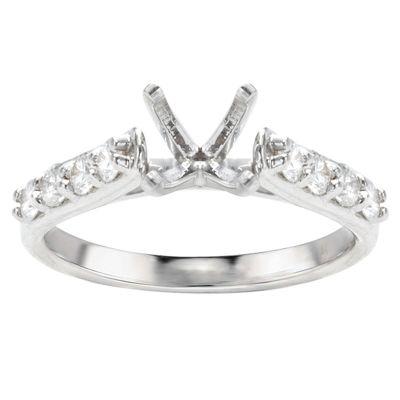 Nora 14K White Gold Diamond Engagement Ring; .50 ct