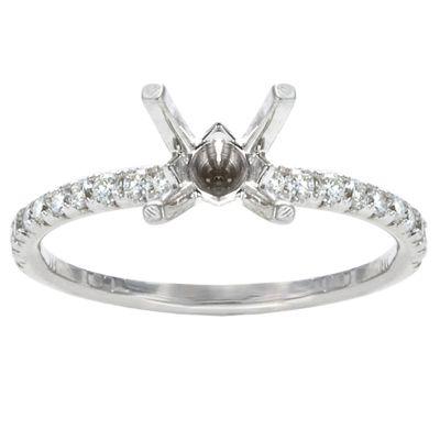 Keira Diamond Engagement Ring in 14K white Gold; 0.25 ct
