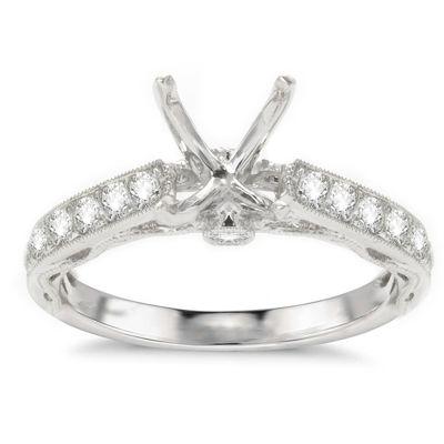 Azalea 14K White Gold Diamond Engagement Ring; .41 ct