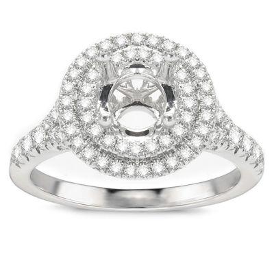 Samara Double Halo Engagement Ring; .61 ct