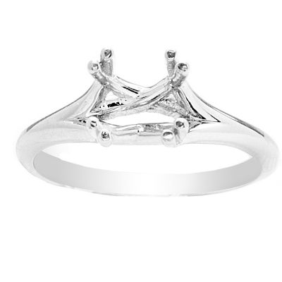 Raeza Solitaire Ring in 14K White Gold