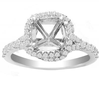 Raelynn Diamond Halo Ring in 14K White Gold; 0.50 ctw
