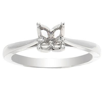 Petunia 14K White Gold Solitaire Ring