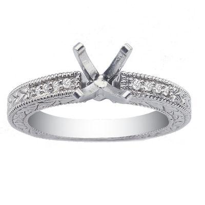 14K Diamond Engagement Ring; Diamond Weight 0.15 ctw