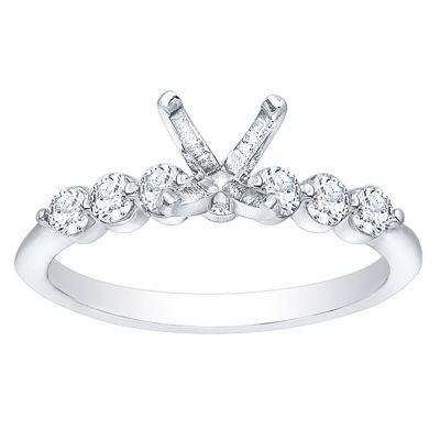 Gracely Floating Diamond Engagement Ring 14K White Gold; 0.35 ctw