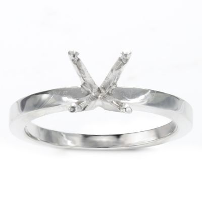 Rena Solitaire Engagement Ring in 14K White Gold