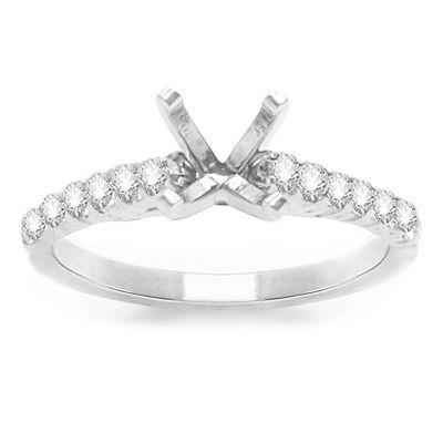 Josephine Diamond Engagement Ring in 14K White Gold; 0.35 ctw
