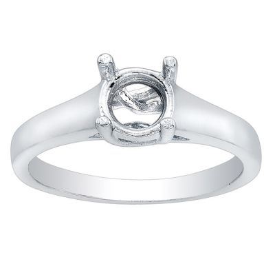 Lucy 14K White Gold Solitaire Engagement Ring with 1 Carat Princess Diamond
