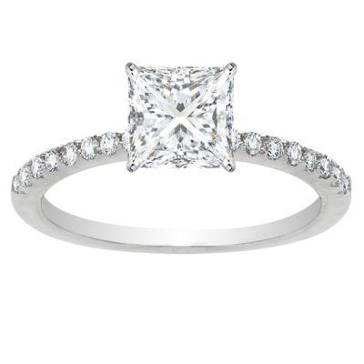 Olivia Diamond Engagement Ring in 14K White Gold; 1.41 ctw