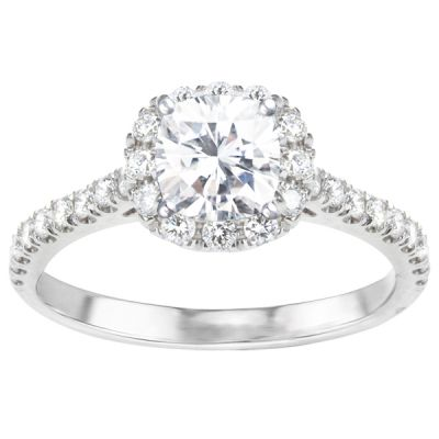 Kaley Round Halo Engagement Ring; 1.54 ctw