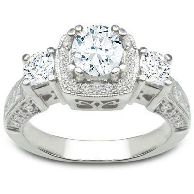 Eliana 14KWG Diamond Engagement Ring; 2.04 ctw