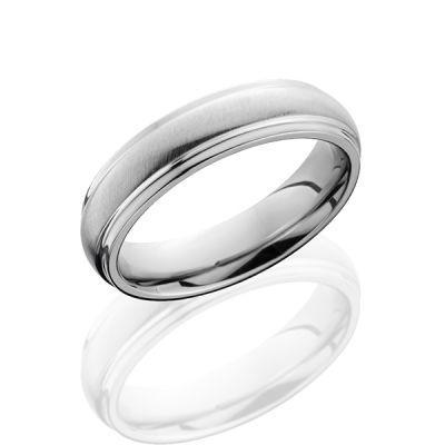 Cobalt Chrome Wedding Band With Angle Satin/Polish