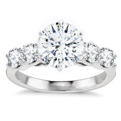 Comtesse Diamond Engagement Ring in 14K White Gold; 1.07 ctw
