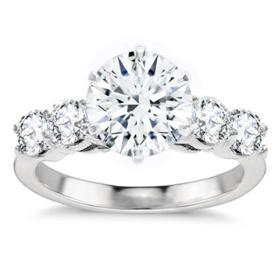 Charlotte Diamond Engagement Ring in 14K White Gold; 3.08 ctw