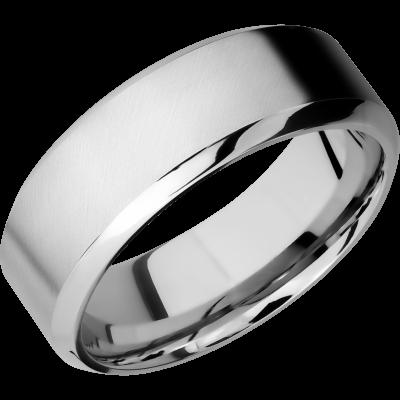 Cobalt Chrome Men's Wedding Band with Customized Laser Carved Fingerprint