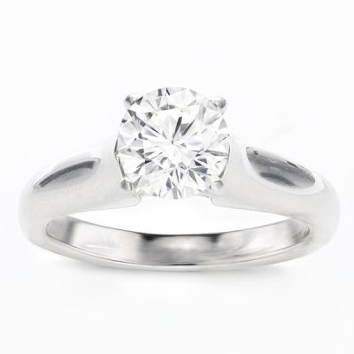 Damaris Solitaire Ring Setting in 14K White Gold