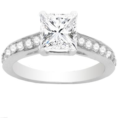 Nadia Diamond Engagement Ring in 14K White Gold; 0.35 ctw
