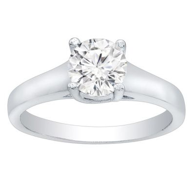 Lucy Solitaire Setting in 14K White Gold