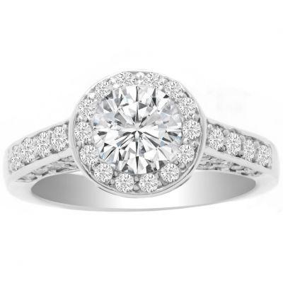 Rosaleen 14K White Gold Diamond Engagement Ring; 1.00 ctw