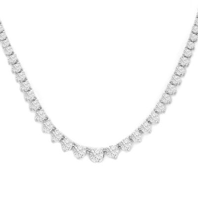 Forever 14KWG Diamond Necklace; 8.00 ctw