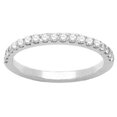 Talia Diamond Wedding Band in 14K White Gold: 0.40 ctw