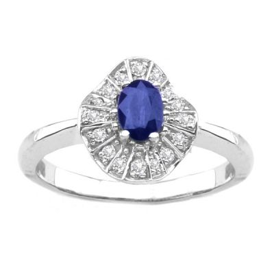 14K White Gold Tanzanite Ring; Total Gem Weight .82 ctw CLOSEOUT