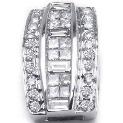 14k White Gold Diamond Pendant ;  Diamond Weight : .50ctw. CLOSEOUT