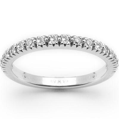 14K White Gold Diamond Wedding Band; Diamond Weight: 0.40 ctw