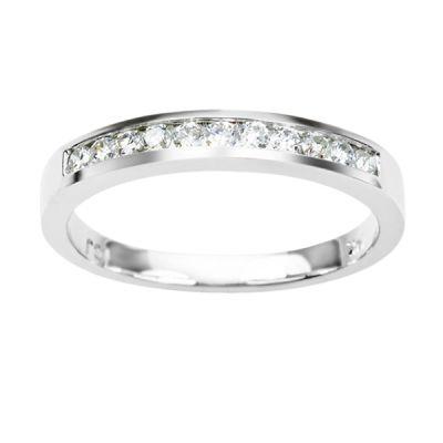 Diamond Band in 14K White Gold- Jaffray: 0.50 ctw