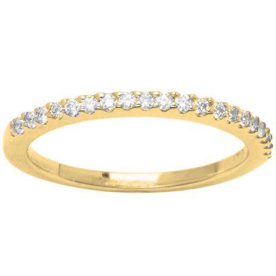 Diamond Wedding Band in 14K Yellow Gold- Liu; 0.30 ctw