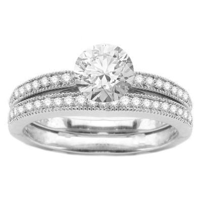 Diamond Engagement Ring Set; 0.50 ctw