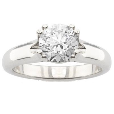 Celia Solitaire Ring Setting in 14K White Gold