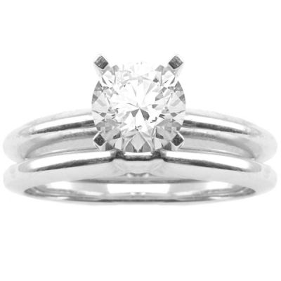 Avery Engagement Ring Set in 14K White Gold