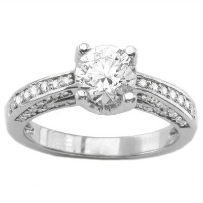 Engagement Ring in 14K White Gold- Svetlana; 0.50 ctw
