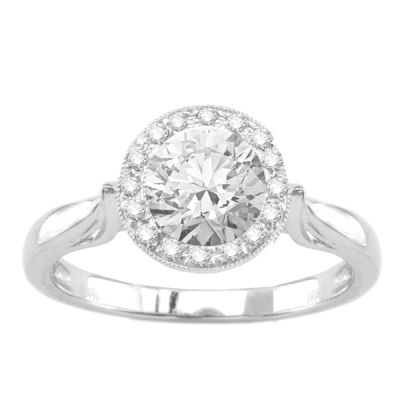 Natanya Solitaire Engagement Ring in 14K White Gold: 0.30 ctw