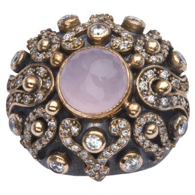 Fashion Ring Pink Quartz