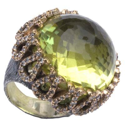 Yellow Quartz Ring