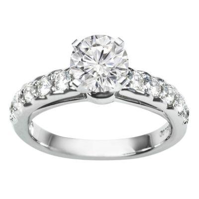 Ashlynn Diamond Engagement Ring in 14k White Gold;0.65 ctw