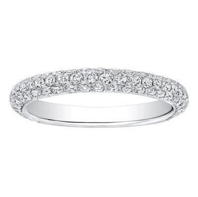 Christelle Pave Diamond Wedding Band in 14k White Gold; Diamond .90 ctw