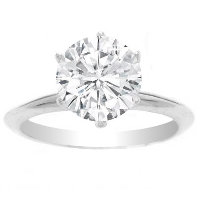 Marina Solitaire Ring Setting 14K White Gold