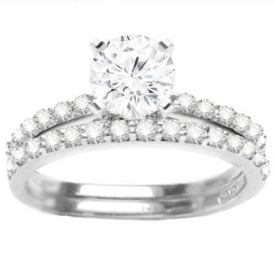 Diamond Engagement Ring Set- Madison: 0.35 ctw