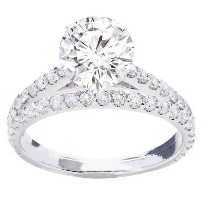 Diamond Bridal Set in 14K White Gold- Galina; .80 ctw