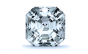 Solitaire Diamond Pendant in 14K White Gold; Shown with 0.25 ctw with 0.5 Carat Asscher Diamond  thumb image 2