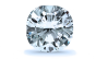 Halo Diamond Pendant in 14K White Gold; Shown with  0.61 ctw   with 1 Carat Cushion Diamond  thumb image 2